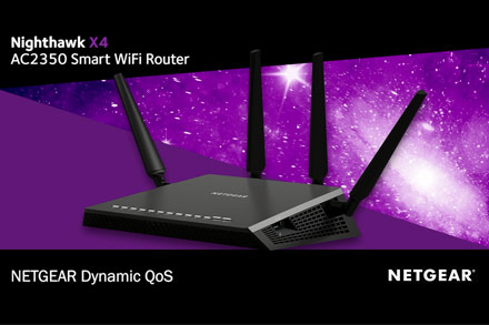 NETGEAR NIGHTHAWK AC 2350 WI-FI ROUTER-WWW.ROUTERLOGIN.NET